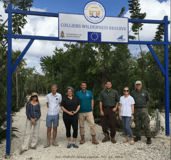 Some of the hard working staff at Blue Iguana Recovery Programme and National Trust for the Cayman Islands gather at the Colliers reserve; Copyright: Ann Stafford
