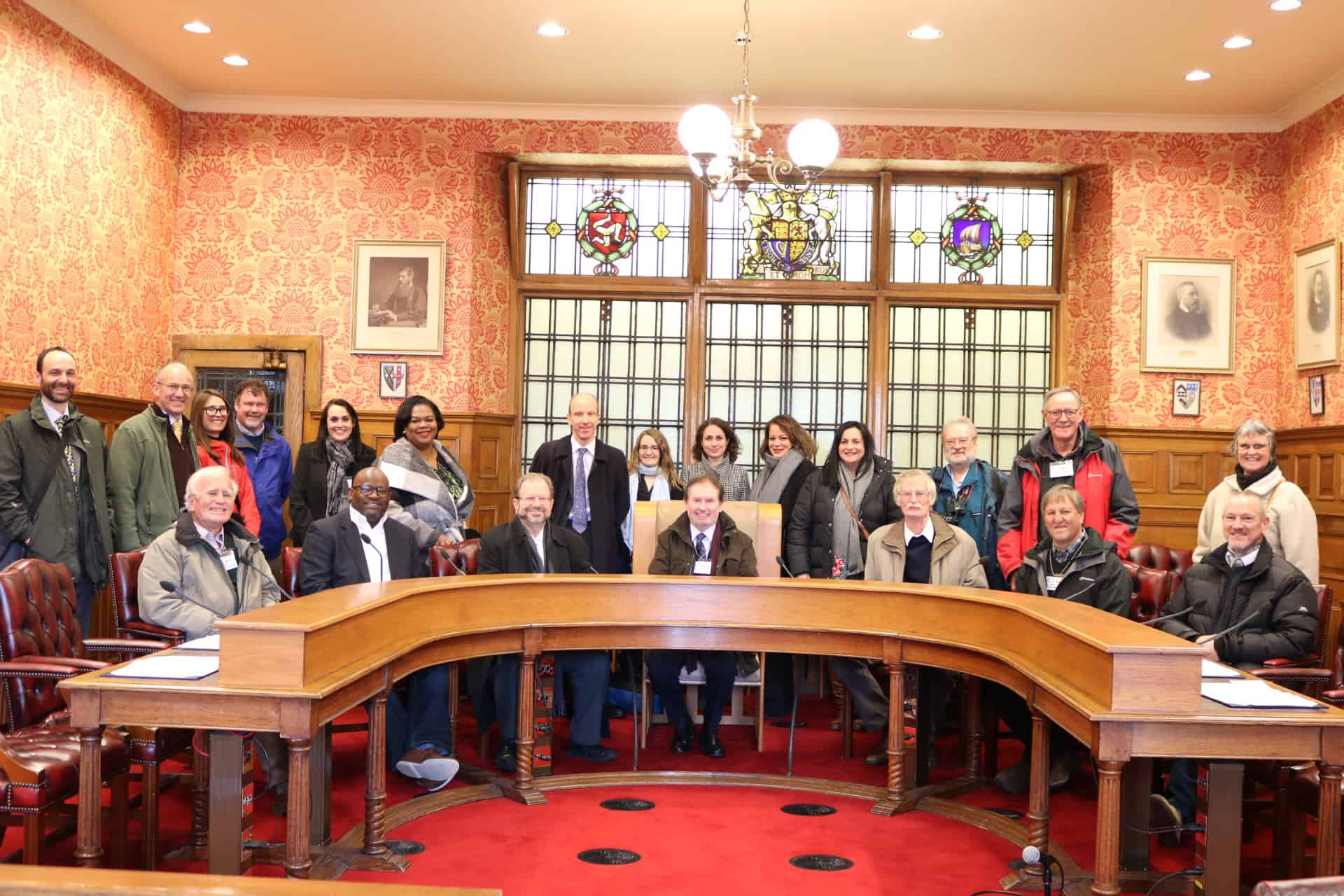 Participants during a visit to the legislative building; Copyright: Isle of Man Government.