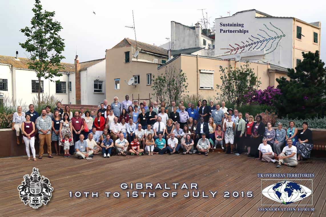 Participants in the Sustaining Partnerships conference 2015; Copyright: UKOTCF/ Government of Gibraltar