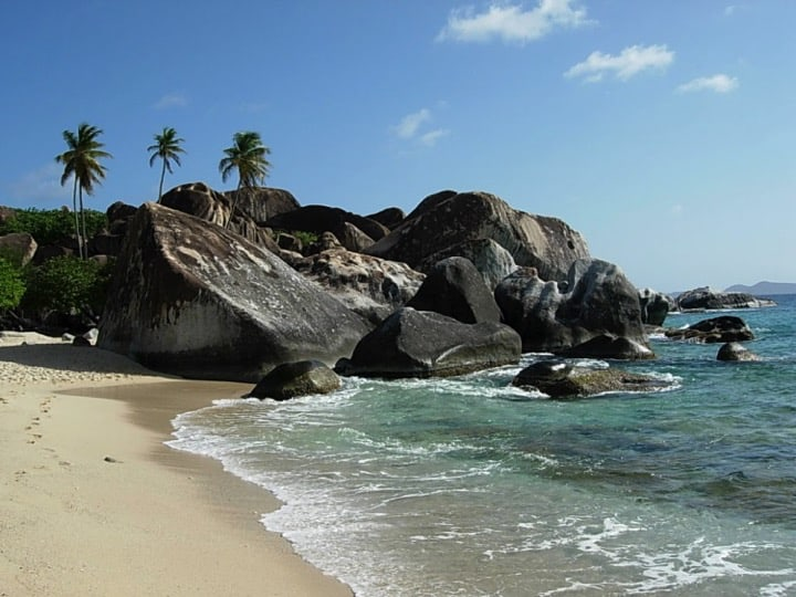 The Baths- a major tourist attraction on Virgin Gorda; Copyright: NPTVI