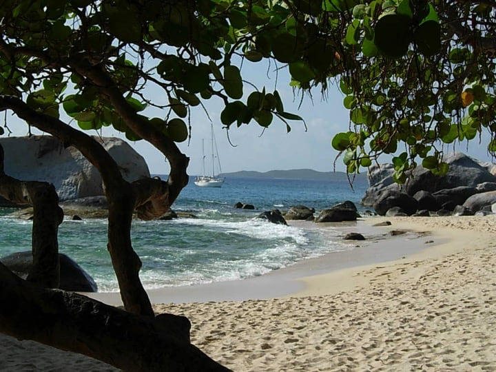 One of BVI's natural assets, the Baths on Virgin Gorda popular with visitors; Copyright: NPTVI