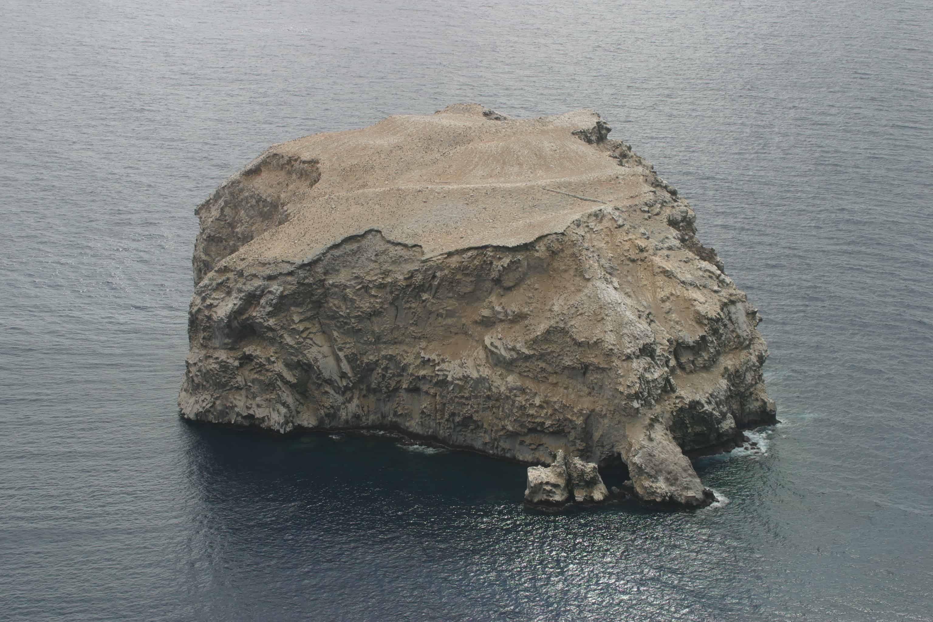Boatswain Bird Island from the mainland opposite. Copyright: Dr Mike Pienkowski