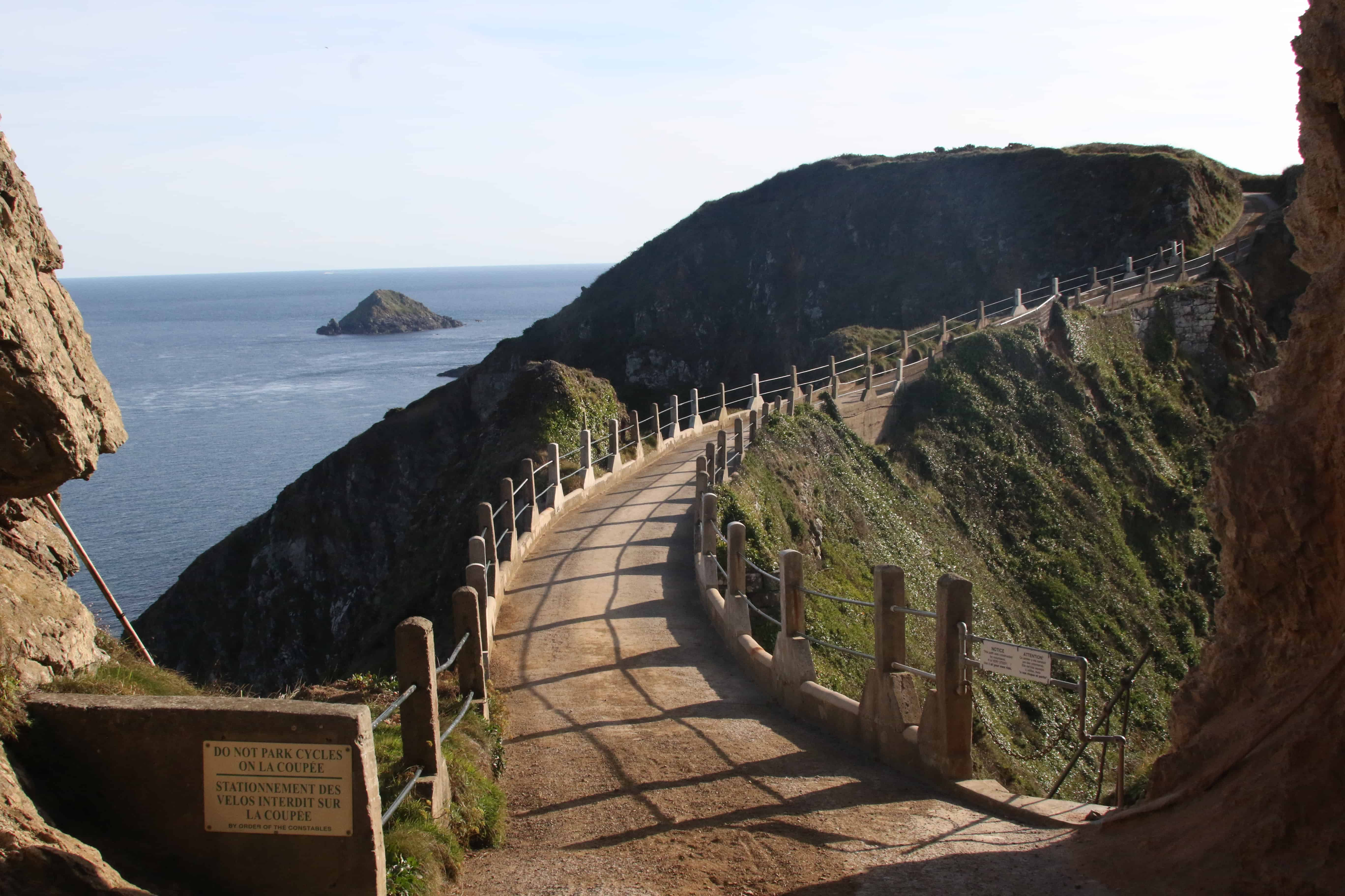 La Coupée, looking from Great Sark towards Little Sark. Copyright: Dr Mike Pienkowski
