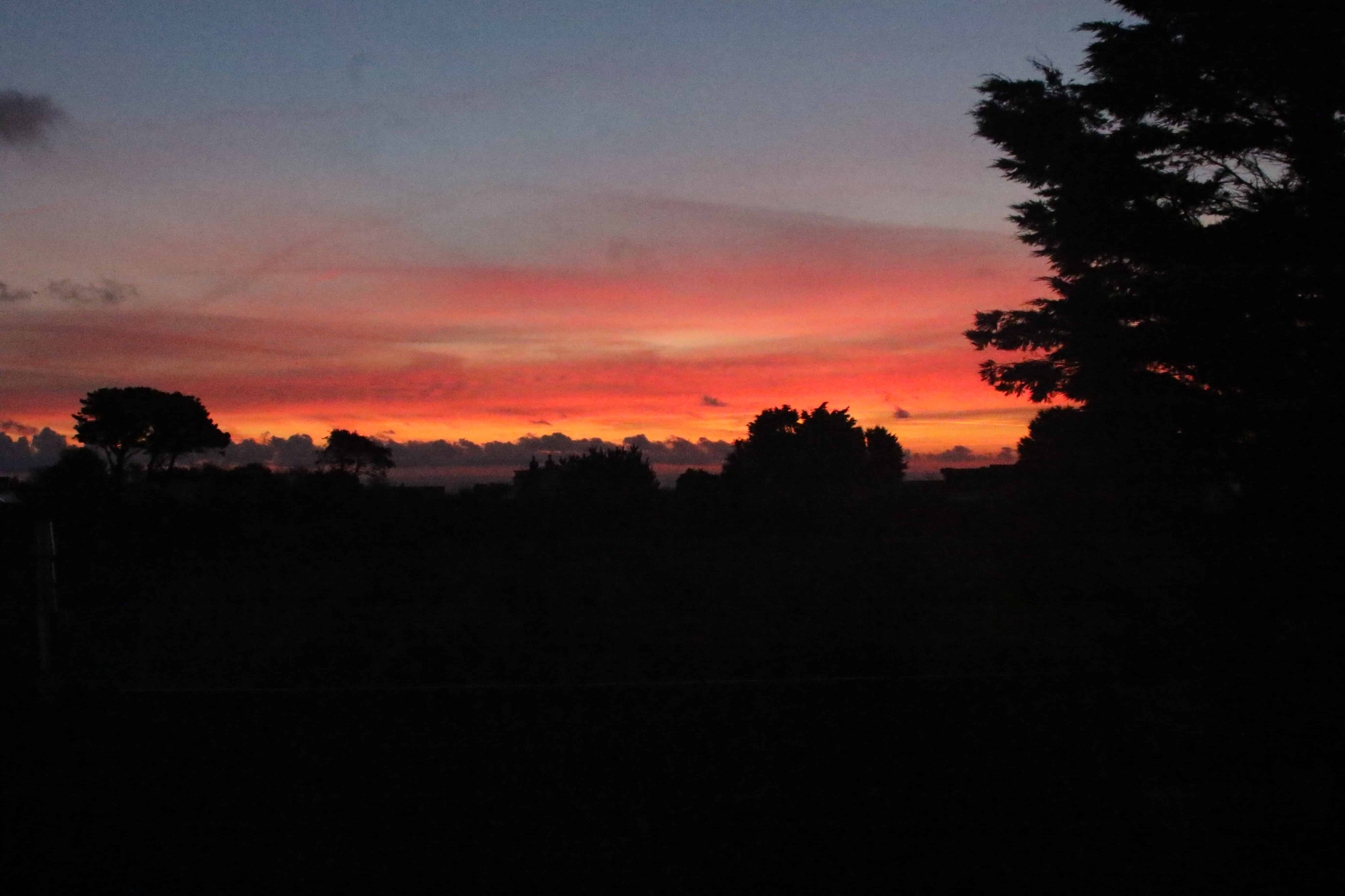 The lack of artificial lighting gives rise also to spectacular dawns. Copyright: Dr Mike Pienkowski