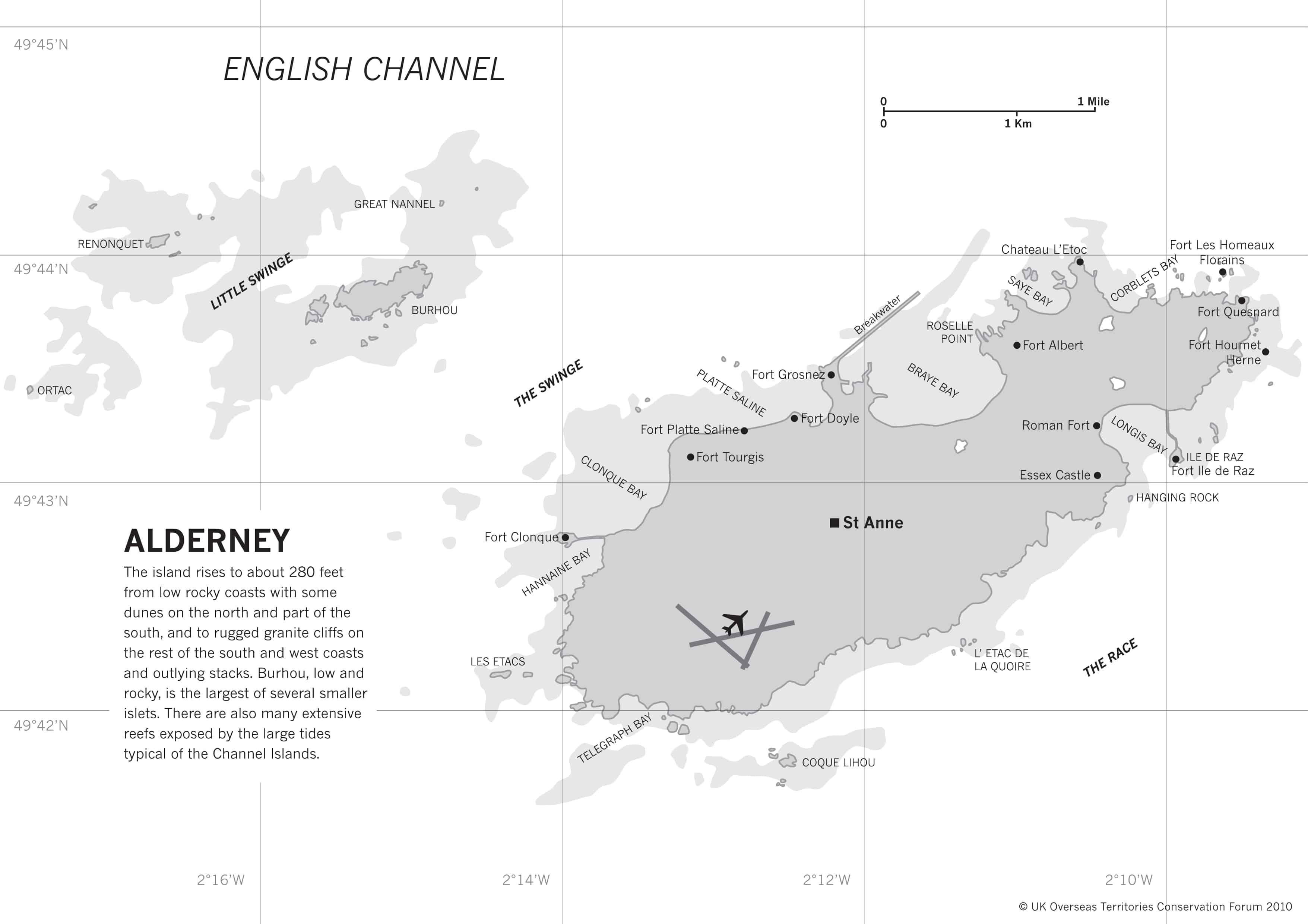 Map of Alderney