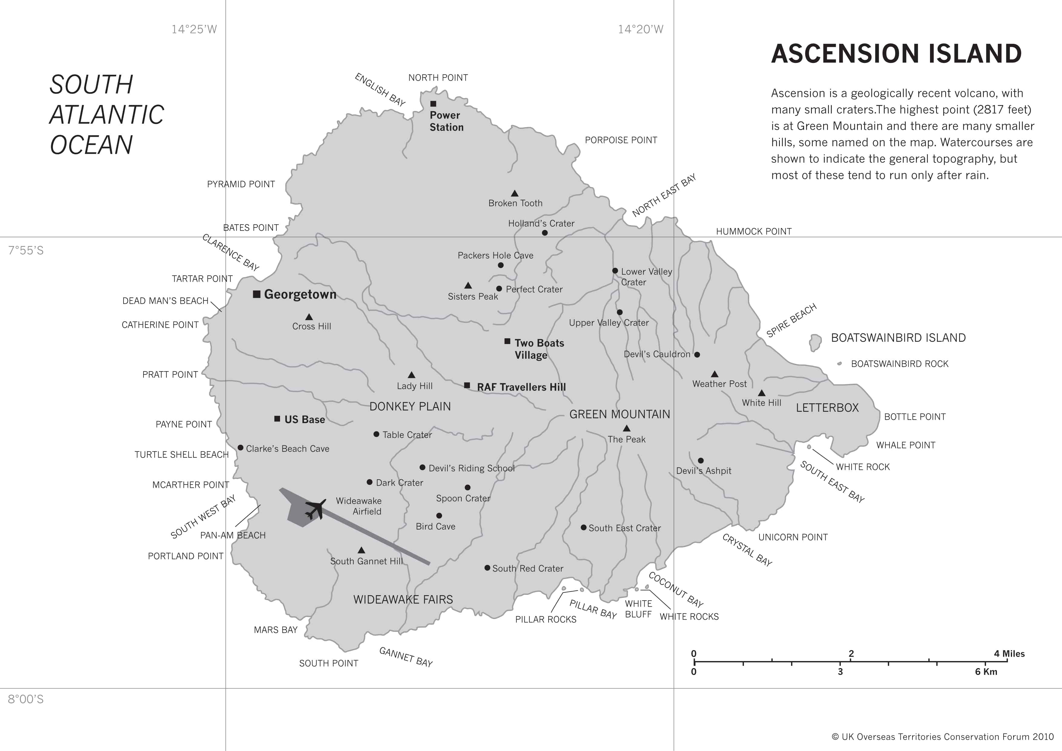 Map of Ascension Island