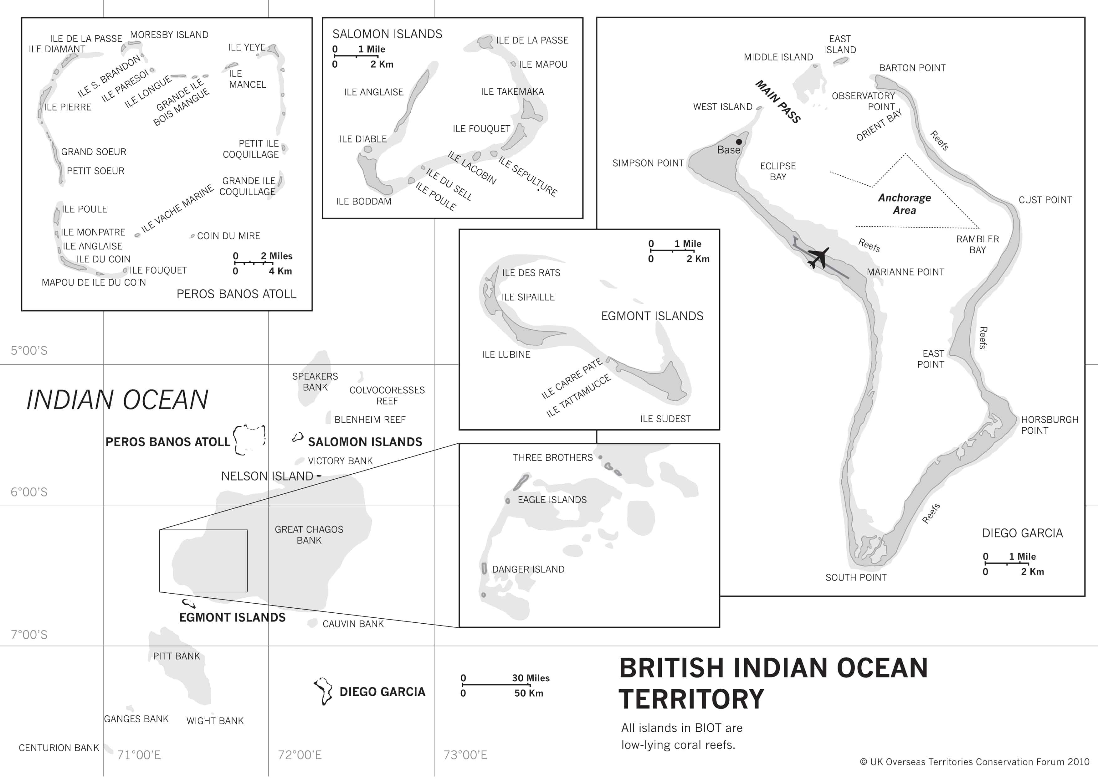 Map of British Indian Ocean Territory