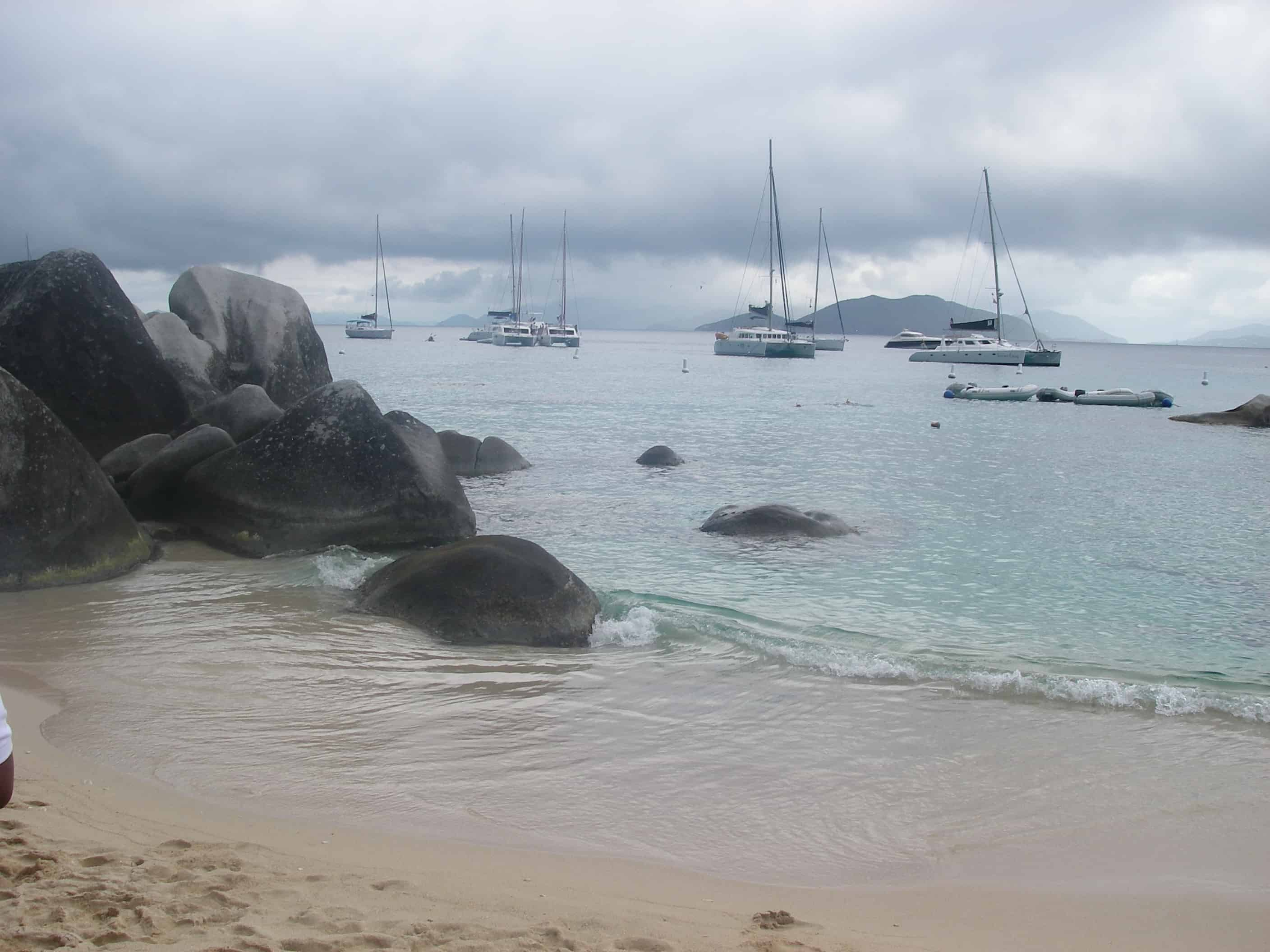 Views of the enormous boulders at The Baths National Park, Virgin Gorda.