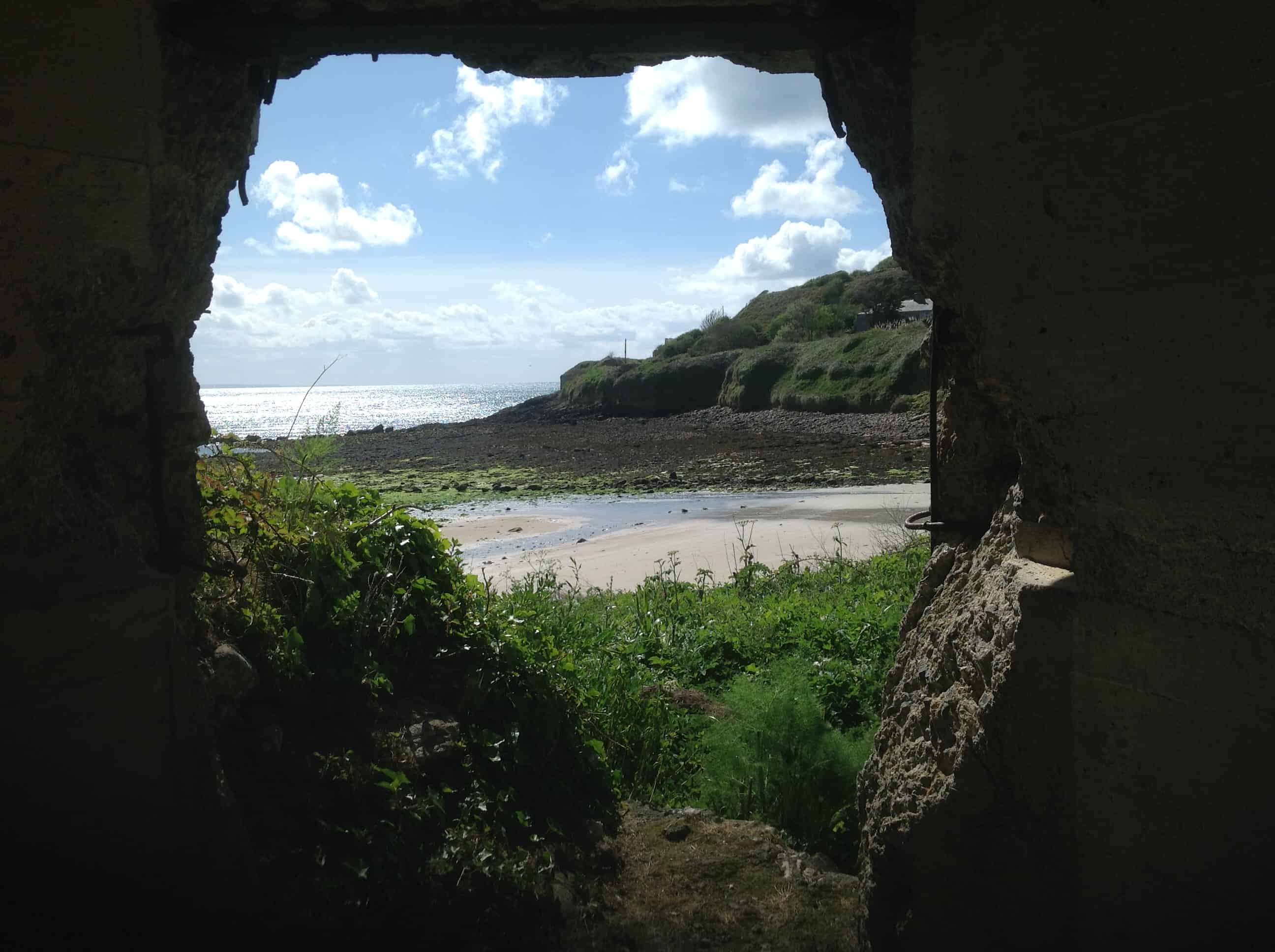 View of the beach from defensive structure in use in various forms from Roman times; Copyright: Dr Mike Pienkowski