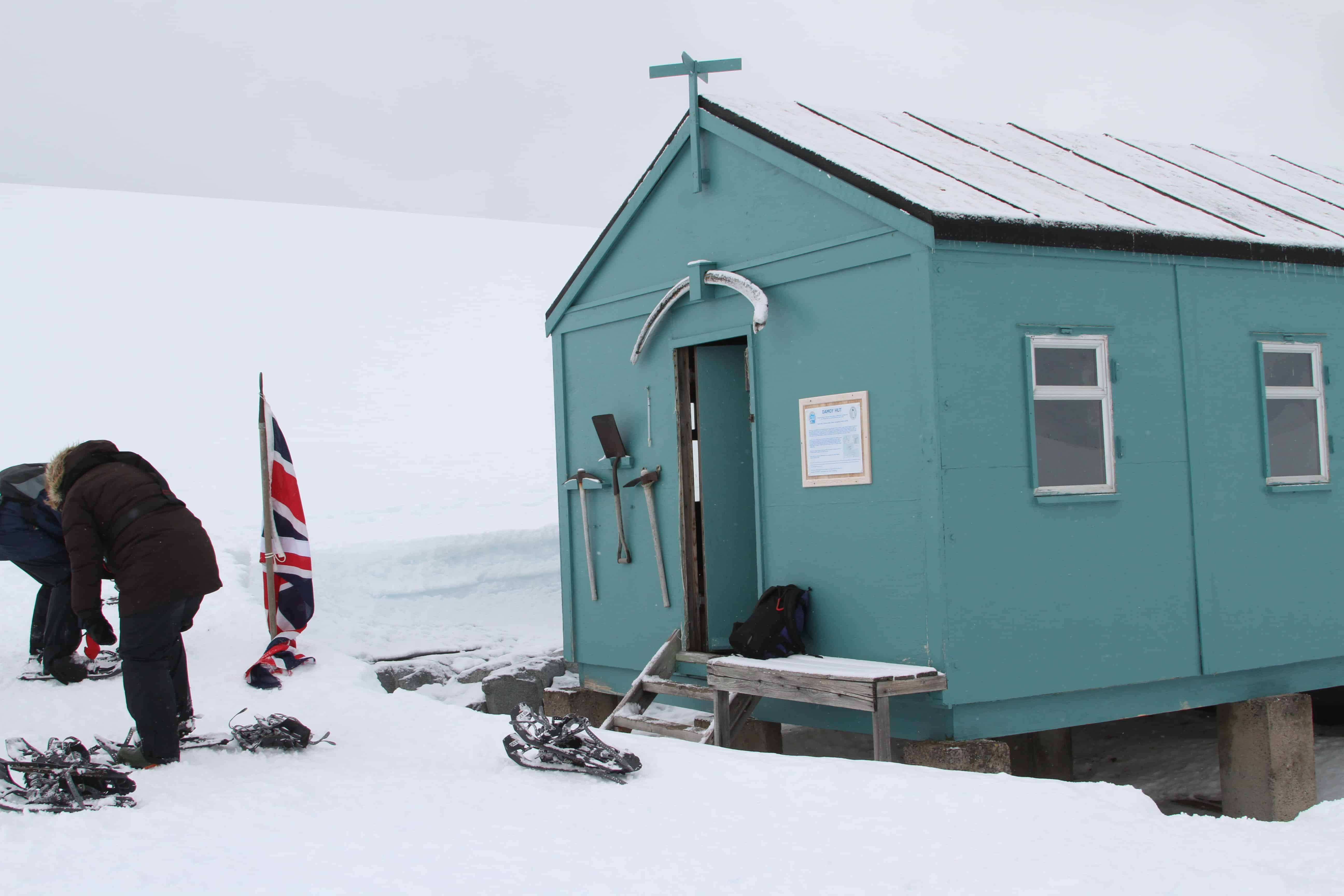 Damoy Hut, the British Antarctic Survey's ice airstrip from about 1973 to 1993; Copyright: Dr Mike Pienkowski
