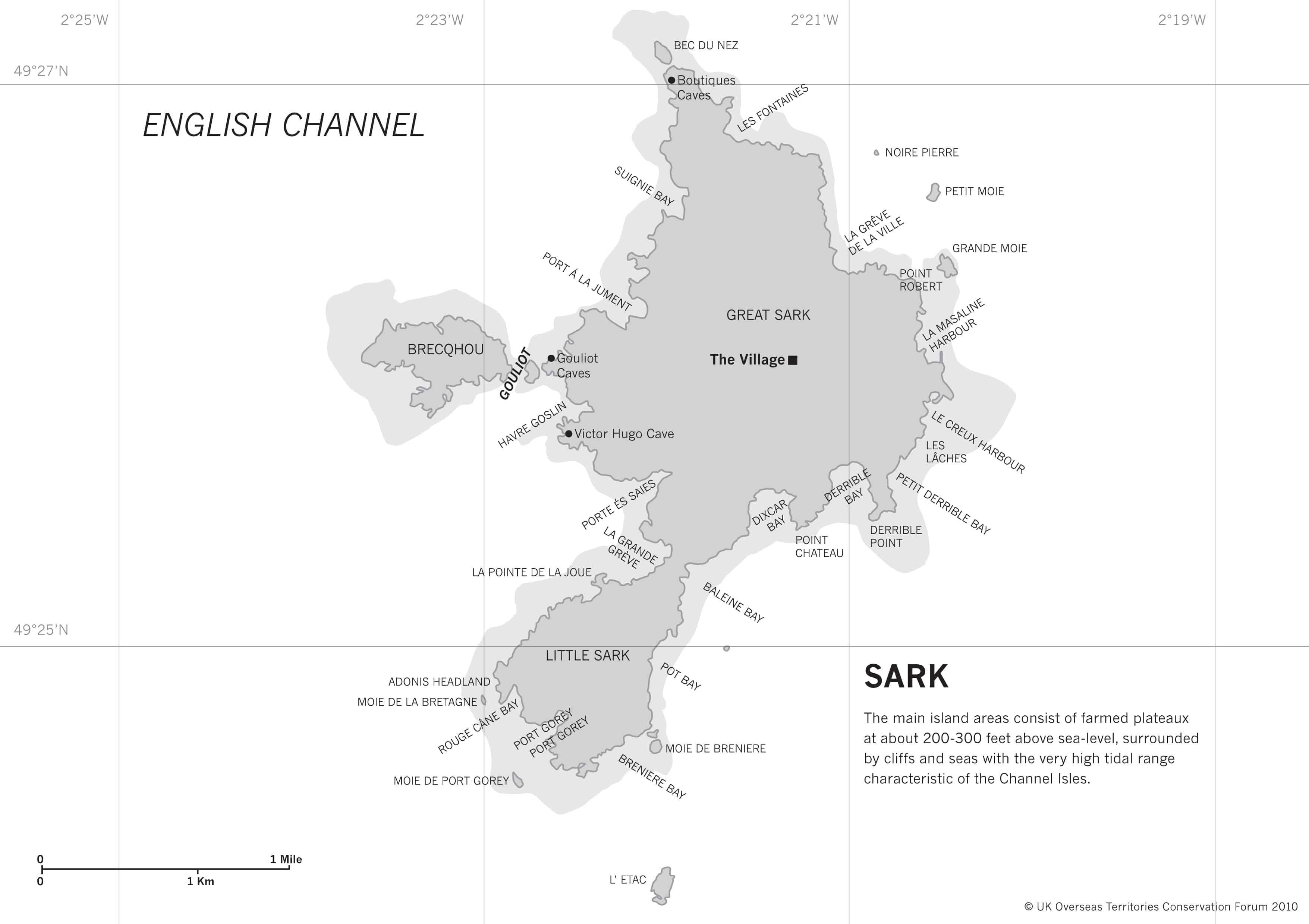 Map of Sark