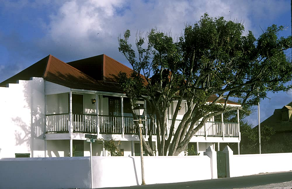 Guinep House, the headquarters of the Turks & Caicos National Museum, Grand Turk; Copyright: Dr Mike Pienkowski