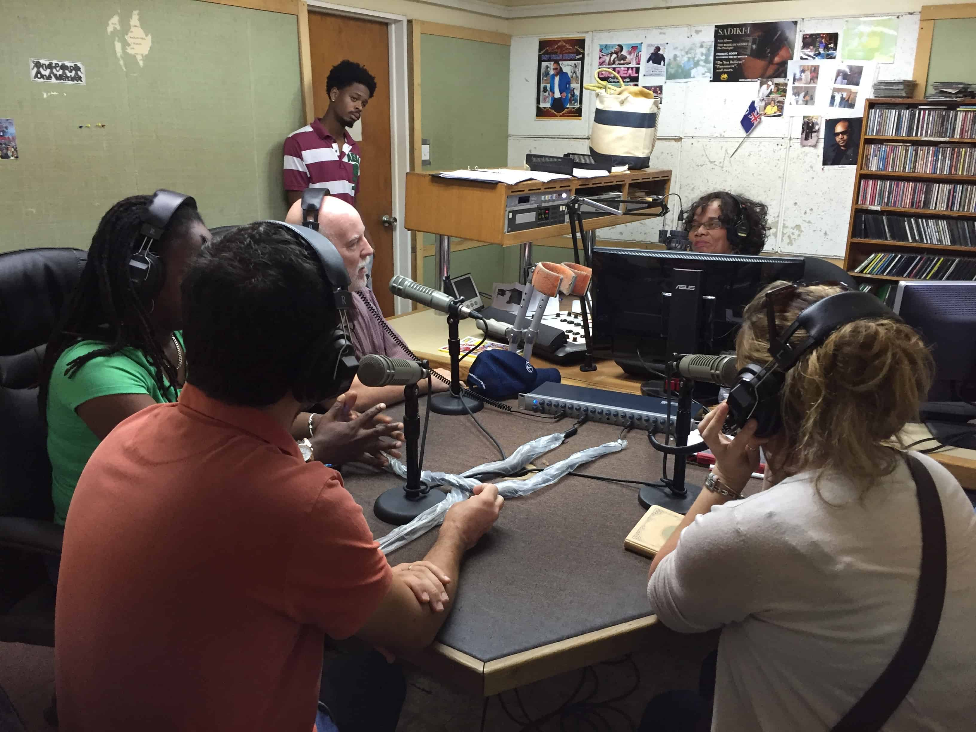 Project team takes part in ZJB radio show with Rose Willock. Nicolas outlines the 'Adopt a Home for Wildlife' initiative, which generated further interest from the community to get involved; Copyright: UKOTCF